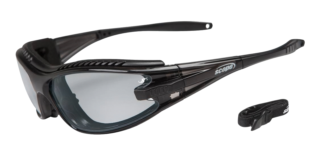 safety glasses with switchable lenses